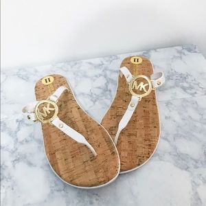 Michael Kors- White sandals